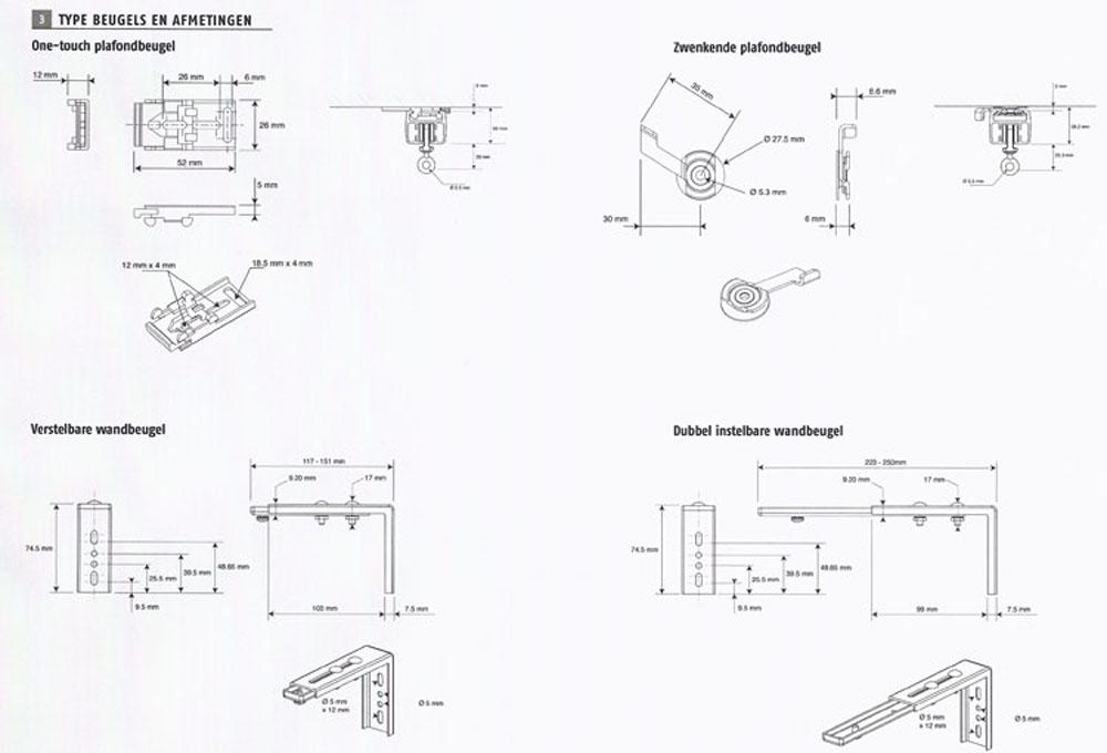SOMFY GLYDEA GORDIJN-RAIL DCT-RTS